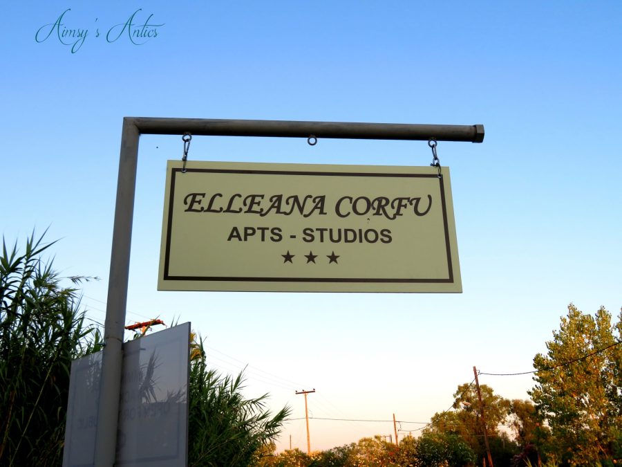 Outdoor sign for Elleana Corfu Apartments