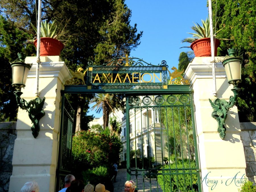 Entrance gates to Achilleion Palace, Corfu