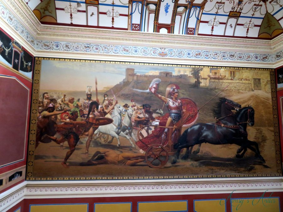 Painting of Achilles in Achilleion Palace