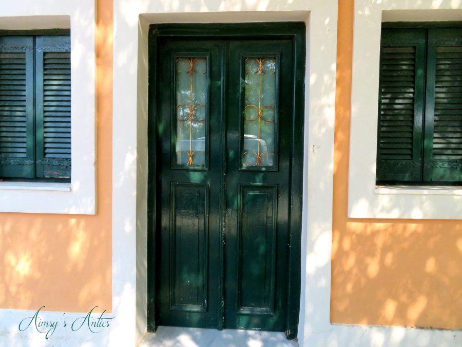 Greek doorway in Corfu