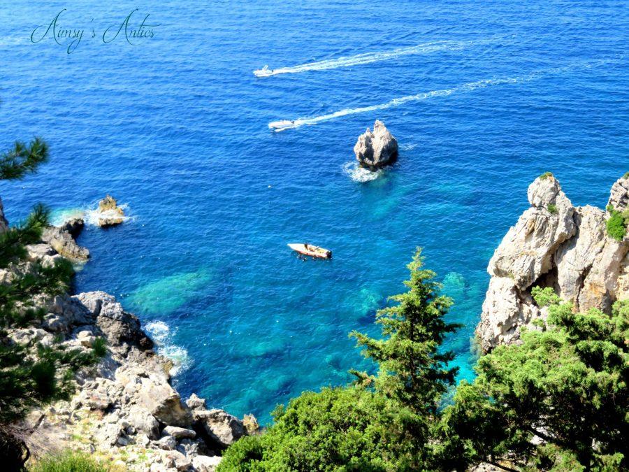 View of the sea from Paleokastritsa Monastery
