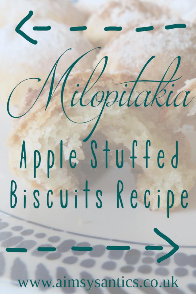 Milopitakia - Apple Stuffed Biscuits recipe -- www.aimsysantics.co.uk