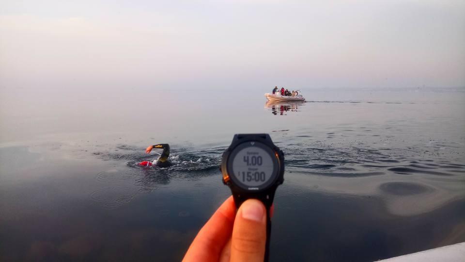 Recordmanul Poloniei in Canalul Manecii a devenit primul om din lume care a traversat inot Marea Baltica