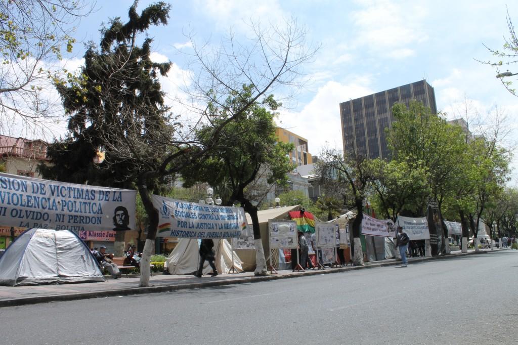 The Platform's headquarters, located on the Prado in La Paz
