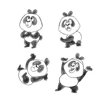 Panda Character Design