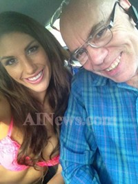 August just before dropping her off at an Axel Braun shoot.