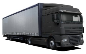 Black truck DAF XF
