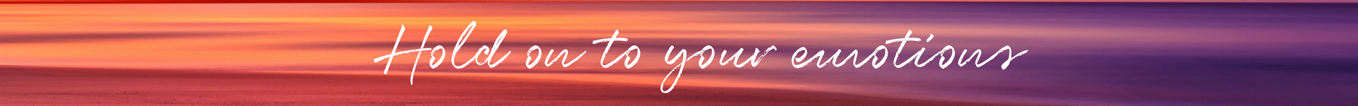 Hold on to your emotions banner smaller white
