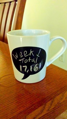 Week 1 Total: 17,161 (Today: 2638) My brain is tired. More tea, please!