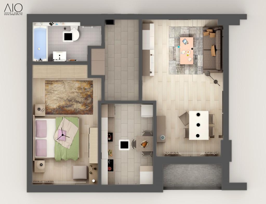 Amenajare_Apartament_Showroom_2_camere_-_Park_Lake_Residence_-_Design_Interior_Cluj-Napoca_-_Randari_(1)