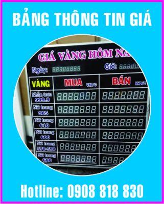 bang thong tin gia led dien tu 321x400 - Bảng led điện tử hiển thị thông tin giá vàng