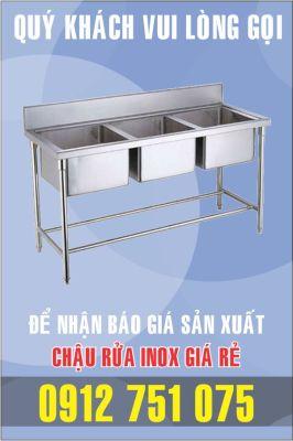 bon rua inox 3 chau 266x400 - Gia công bồn rửa inox