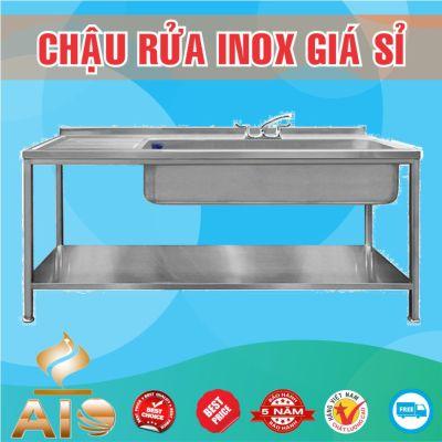 chau rua inox doi lien 400x400 - Xưởng sản xuất chậu inox