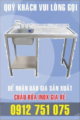 lam bon rua inox 266x400 - Gia công bồn rửa inox