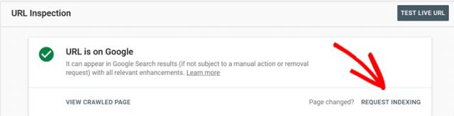 URL Google Search Console