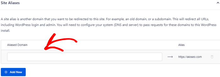 Site aliases