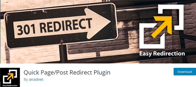 quick post and pages redirection plugin