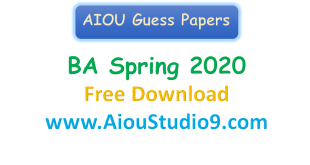 AIOU BA Guess papers Spring 2020