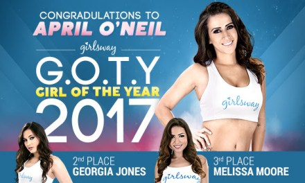 Girlsway Announces April O'Neil as its 2017 Girl of the Year