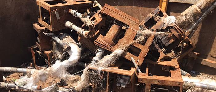 ガス切り材スクラップの取扱、滋賀県金属買取の神田重量金属株式会社