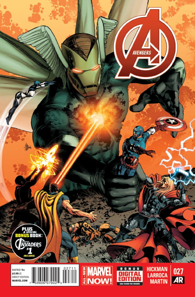 Welcome back to Hickman's Avengers. I recall last time, there were Adaptoids, evil alternative Avengers, and... that's it. Can't recall anything else of importance, but maybe something big will happen this time. Is it good?
