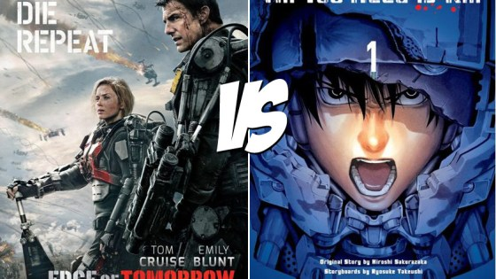 The connections between recent Tom Cruise action vehicle Edge of Tomorrow and its manga source material All You Need is Kill could probably be listed on a single hand.