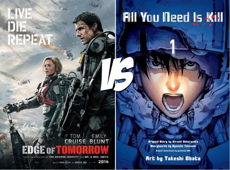 Manga vs. Film: All You Need is Kill Volume One vs. Edge of Tomorrow