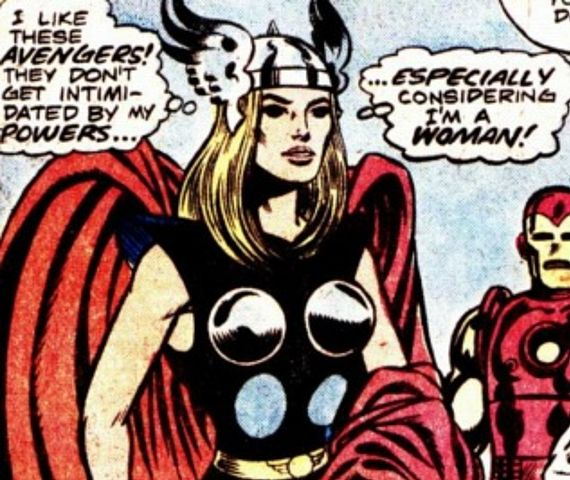 Lady Thor is on the rise. At least someone is getting it up
