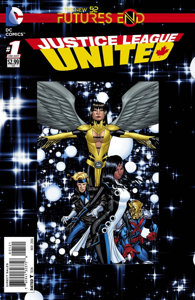 In the Futures End tie-ins, we've been looking at a lot of books focusing around solo heroes or even duos. So, how about we switch that up and take a look at a team book and see what these heroes have been up to over these past few years? Is it good?