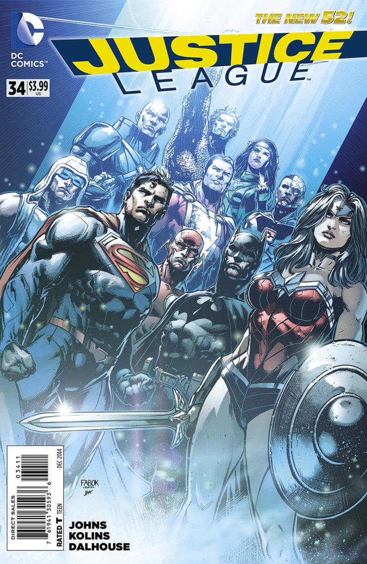 Justice League is being double shipped this month, which should finally allow the series to catch up to where it should be. This ought to be good (hopefully). Let's check out the first issue of the two coming this month. Is it good?