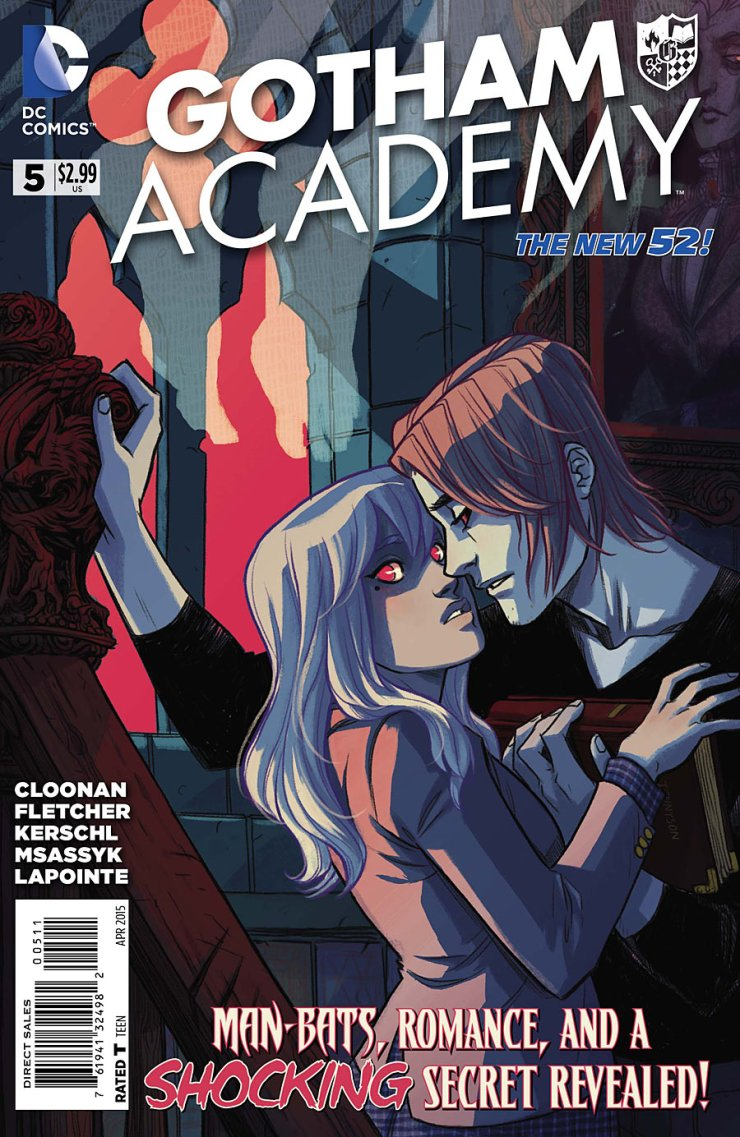 Last issue, Gotham Academy brought us an intriguing cliffhanger that has me rather excited about what we'll learn this time around. What new secrets will we hear about with Olive's mother? Who is the mysterious boy that's been popping up all over the place? Is it good?