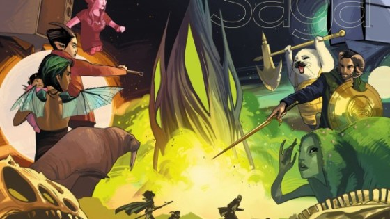 Saga is back from another hiatus which means it's time to add it back to our stacks of monthly comics to anticipate and enjoy. It's also the 25th issue, which is a nice quarterly number we can all dig, but is it good?