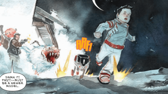 I really enjoyed the first issue of Jeff Lemire's Descender a lot. Maybe there are some things that could have better, but all in all, the comic easily had the best start and showed the most promise of any new Image comic that I've seen so far this year. The latest issue has just arrived, so let's take a look at it and see if it can keep this excitement going. Is it good?