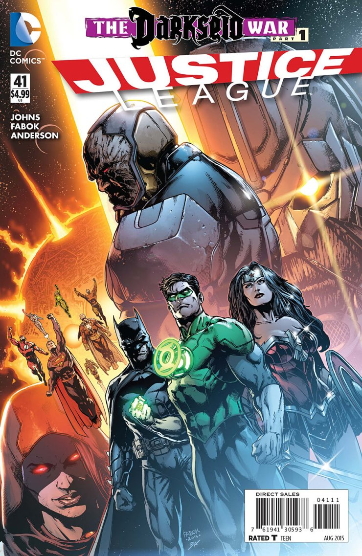 After a long two months, DC Comics is back with their regular titles! I am personally excited to read a lot of them, but before I do, there's one of the returning titles that deserves a bit of attention for what it is about to unleash: Justice League. It is time for Darkseid War Part 1! Is it good?