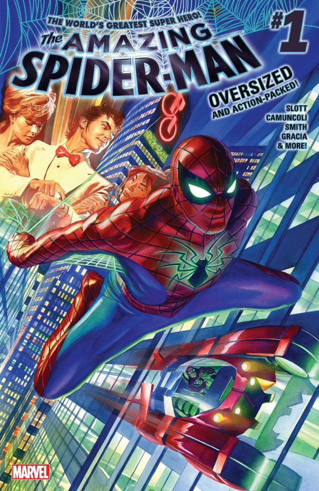 Secret Wars has yet to end but the new Amazing Spider-Man is here in a $5.99 oversized issue. Is it good?