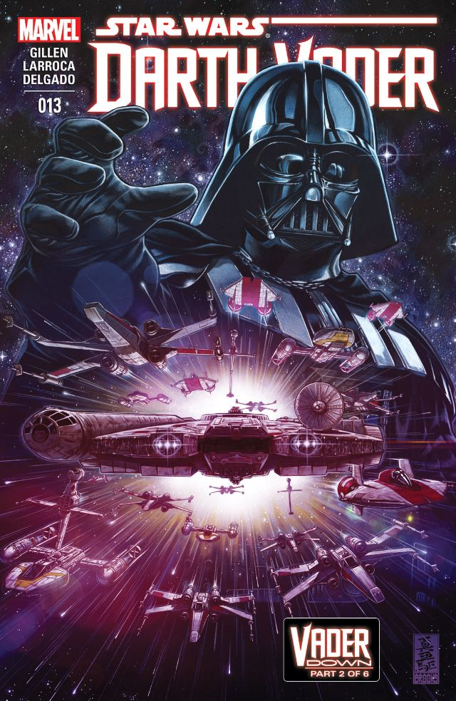 The first Star Wars Marvel event has started and it's called Vader Down, wherein Vader is quite literally down as his TIE Fighter has been knocked out of the sky by Luke Skywalker. The planet he's been grounded on has a huge Rebel Alliance army ready to take him out. That's one vs. many, but the odds are in Darth Vader's favor since he's so damn badass. Is it good?