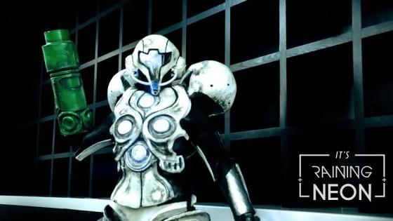 Light Suit Samus Aran Cosplay by Its Raining Neon