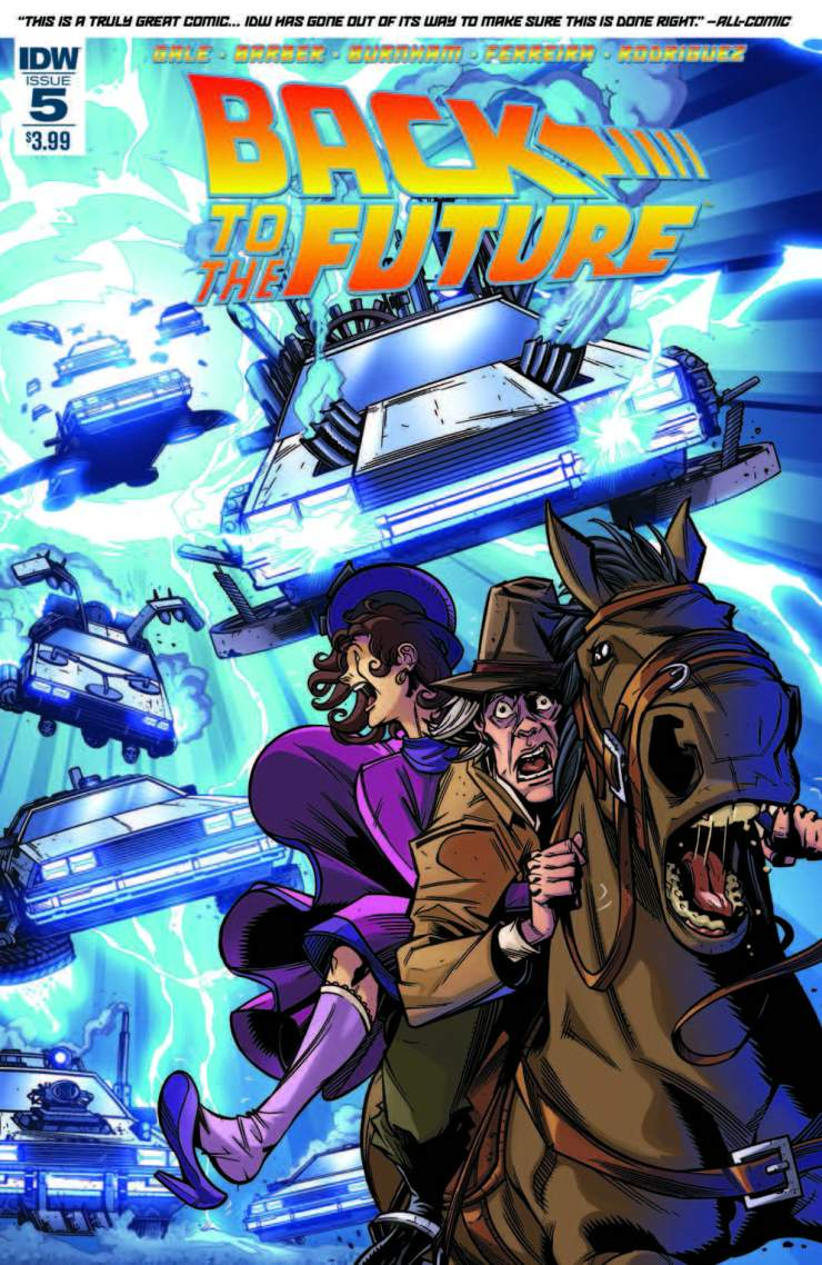 It's safe to say the high of Back to the Future has worn off from last year. Everyone was excited because 2015 was the year the film went to the future. Now that the high is over can the comic launched last year continue its sales and more importantly remain a quality book?