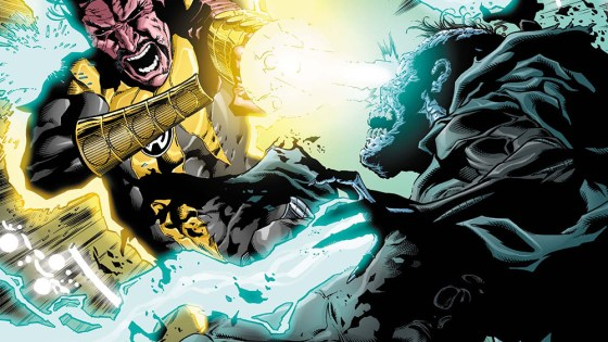 Sinestro confronts the Pale Bishop as Earth's fate hangs in the balance. The outcome of this battle will forever alter the course of the Sinestro Corps!
