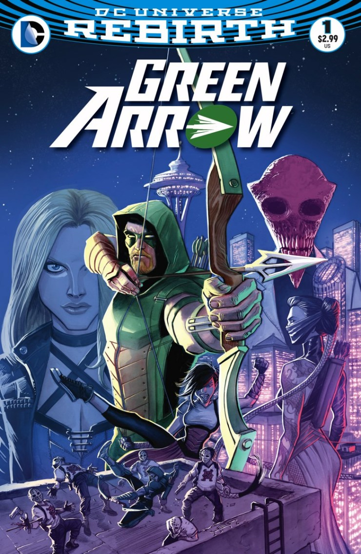 Ollie Queen AKA Green Arrow has recently been cured of his werewolf disease and he's back in Seattle. All is well right? Considering we're facing a rebirth this month I think not, but is it good?