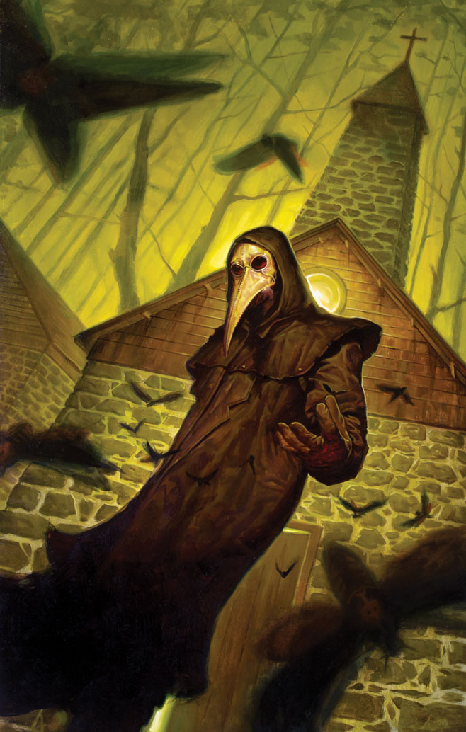 The Death Head limited series from Dark Horse, has been put together into a one volume collection. Anyone who missed the initial run of the original horror comic, and who are really into plague doctor masks, can pick it up now. But, is it good?