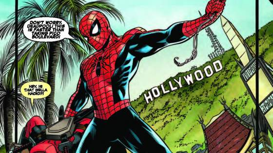 Deadpool goes Hollywood! See the M w/the M on the set of his own MOVIE! And he brings his pal Spidey along, as he has lots of experience selling out! All-Star Special Issue-written by Scott Aukerman of TV's Comedy Bang Bang! Rated T+