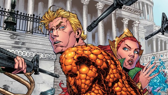 Aquaman's embassy was blown up last issue as Black Manta struck him where it meant the most. Can Aquaman recover and more importantly, is it good?