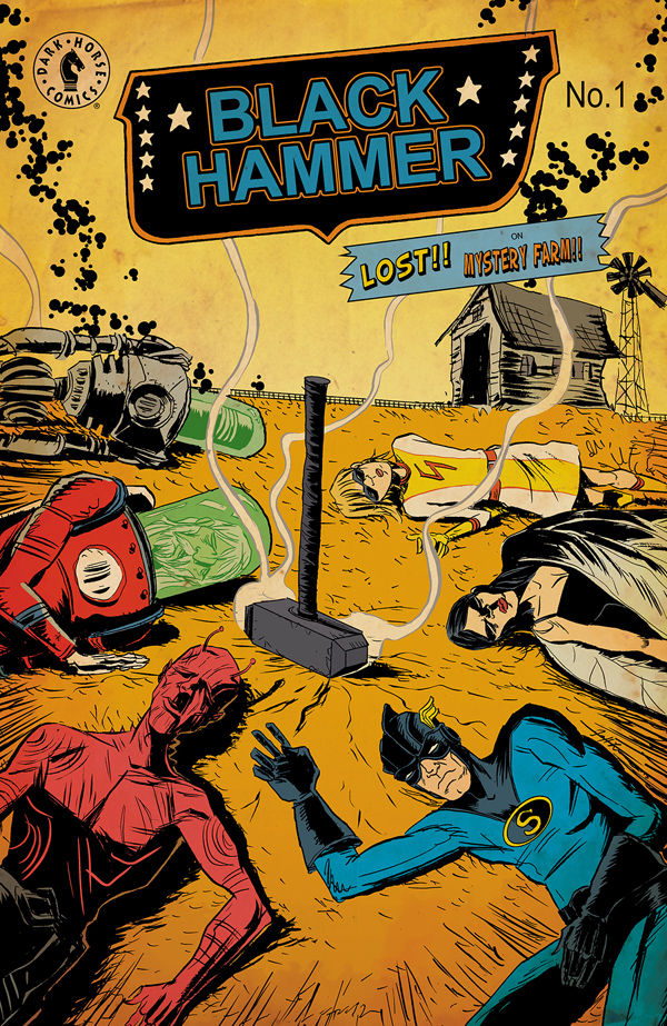 Jeff Lemire is no stranger to writing superhero thrillers and on July 30th, Dark Horse is releasing his latest series, Black Hammer. Paired with artist Dean Ormston, Lemire attempts to create a unique comic book mystery in a completely new universe. Is it good?