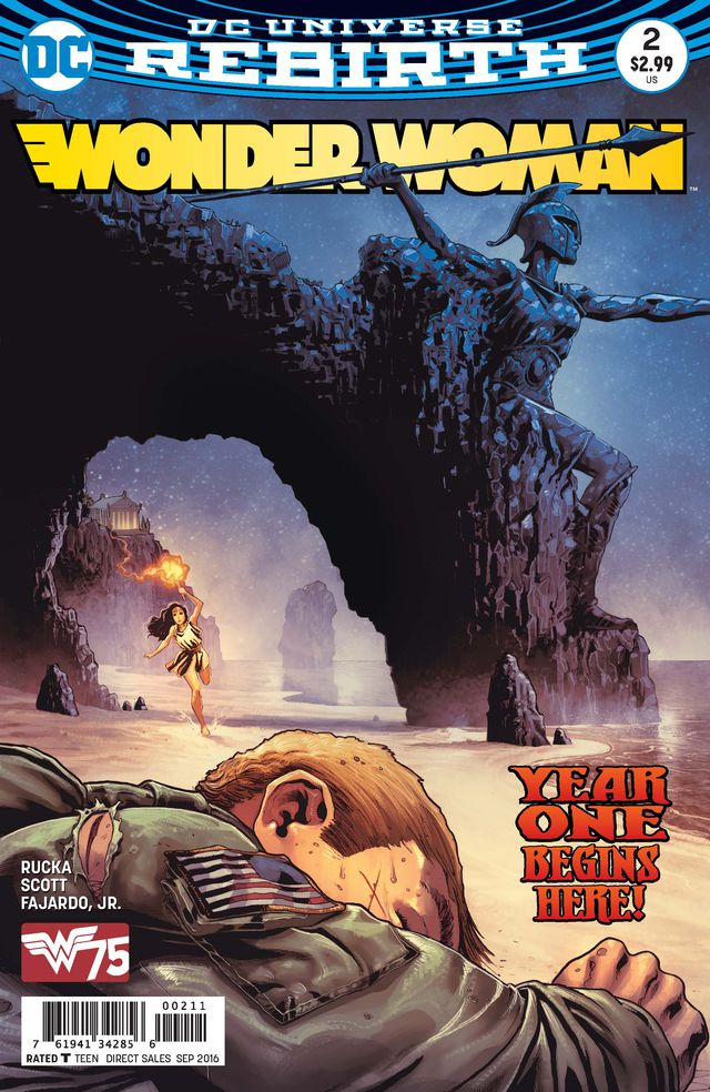 While my colleague Alyssa covers one half of Rucka's Wonder Woman series, I'll look at the other that takes place in the past.  With Nicola Scott joining in as artist, let's see what the past offers.  Is it good?