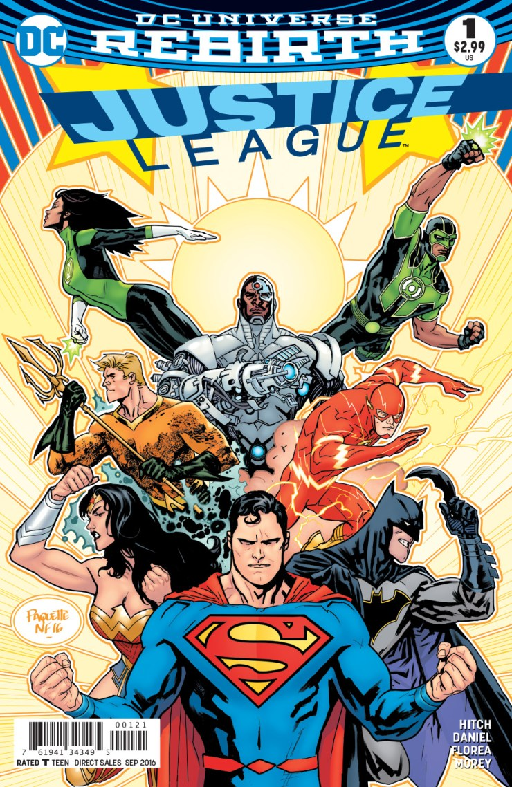 JUSTICE LEAGUE Cv1 variant by Yanick Paquette and Nathan Fairbairn