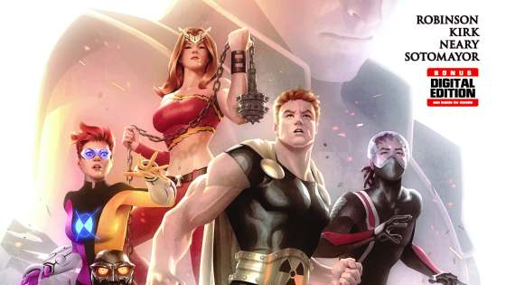 "CIVIL WAR II TIE-INS! THE START OF A NEW EXPLOSIVE ARC – ""FINDING NAMOR"" STARTS HERE! The Squadron encounter the drama of Civil War II from a unique perspective – where every move they make has been pre-empted by Ulysses... and where Hyperion must fight the Blue Marvel. Leading on from the Squadron learns that Warrior Woman bent on conquest and driven by her own Civil War II prediction, has but one goal – the resurrection of Namor, the Sub-Mariner. Will the Squadron help her or stop her, and at what cost to their membership? And how will Ulysses' visions and the events of Civil War II further affect the team?"
