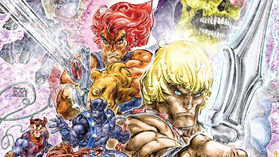"""Last month was a fun reintroduction back into the world of some of my favorite cartoon heroes from the 80's.  Both He-man and the ThunderCats cartoons got an update no one expected, in a cross-over event that saw the loin-clothed Eternian hero beat the wrappings off of the vile Mumm-Ra.  If that wasn't bad enough for old Mums, who should show up at the last second and vaporize him, but Skeletor.  Oh, and Skeletor also managed to finally steal He-Man's """"Sword of Power"""".  That's where we pick up in this issue.  My inner-ten-year-old can hardly wait to see what happens next.  Is it Good?"""