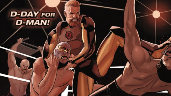 Sam Wilson, Captain America, has been put through the ringer by writer Nick Spencer lately. After fending off USAgent and letting a senator die on his watch, the former Falcon could use some time in Captain America:  Sam Wilson #15 to unwind with the greatest of all-American pastimes -- 'rasslin'! Will Sam get some relief, or will the action spill out into the Unlimited Class Wrestling Federation Universe?! Is it good?