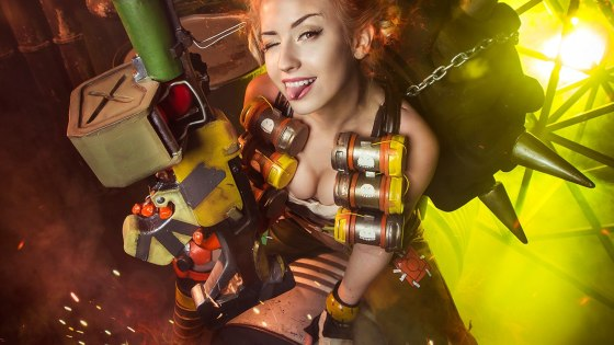 Junkrat may be best known for the droves of players who simply hold down left mouse click and hope for kills, but Angelica's gender-bend cosplay of the infamously insane Australian is sure to turn heads for much different reasons.